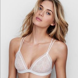 Victoria's Secret VS White Beige Lace Bralette Med